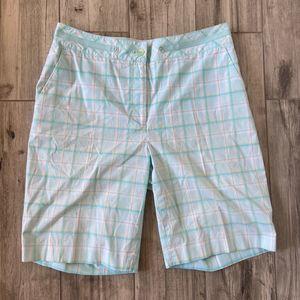 EP Pro Plaid Women's Golf Bermuda Shorts Size 8